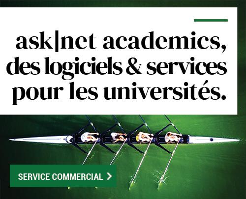 asknet academics, des logiciels et des services pour les universités.