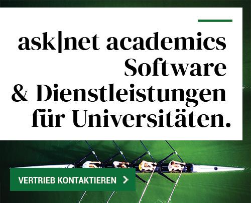 ask|net academics Software & Dienstleistungen für Universitäten.