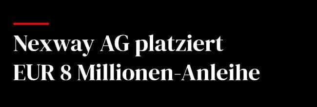 Nexway AG platziert EUR 8 Millionen-Anleihe